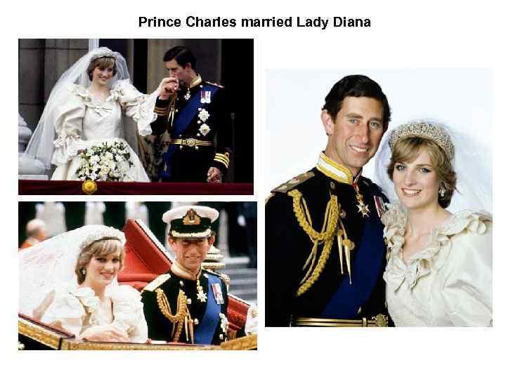 Prince Charles married Lady Diana