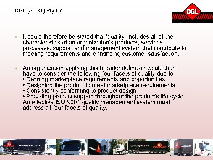 DGL (AUST) Pty Ltd l It could therefore be stated that 'quality' includes all