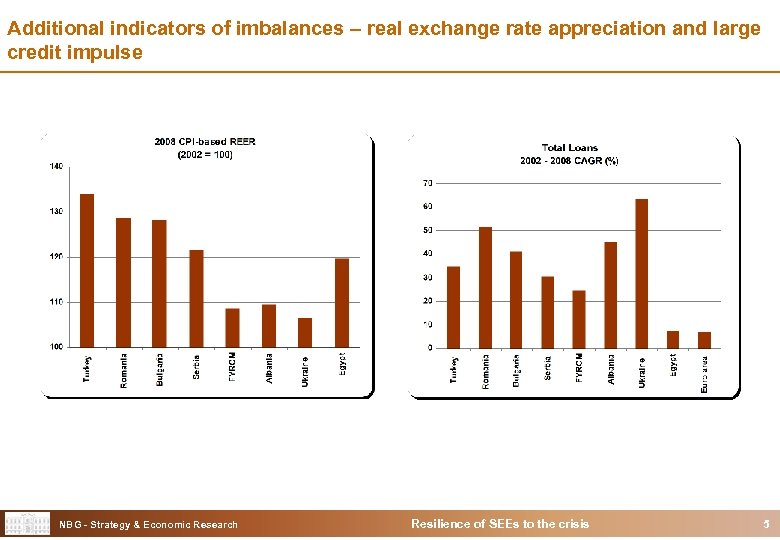 Additional indicators of imbalances – real exchange rate appreciation and large credit impulse NBG