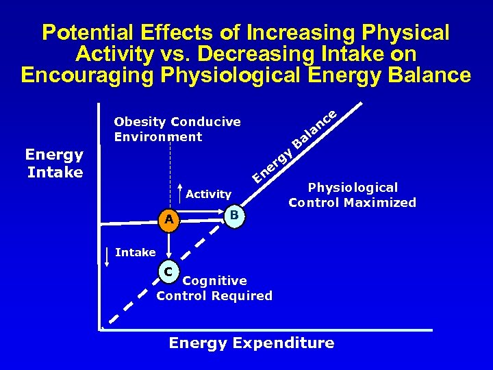 Potential Effects of Increasing Physical Activity vs. Decreasing Intake on Encouraging Physiological Energy Balance