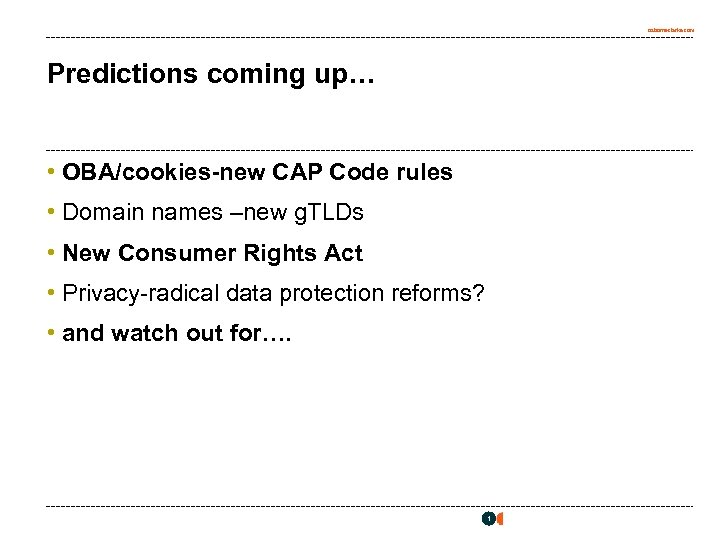 osborneclarke. com Predictions coming up… • OBA/cookies-new CAP Code rules • Domain names –new