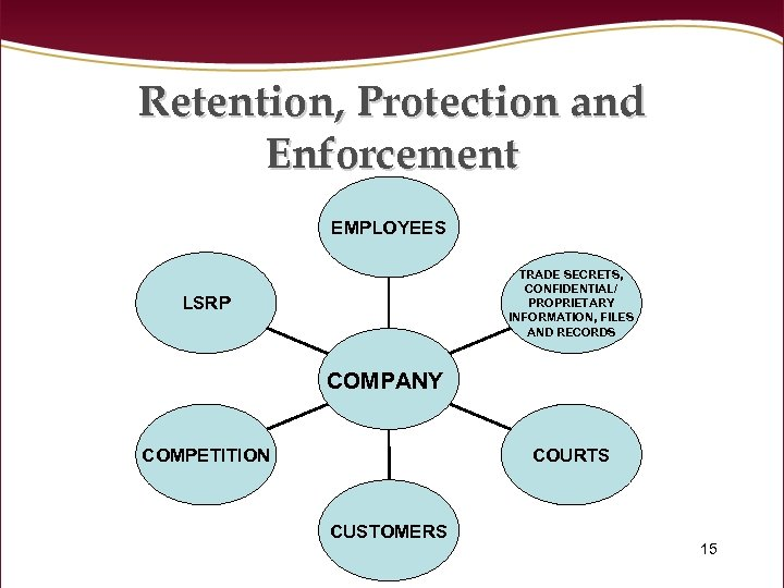Retention, Protection and Enforcement EMPLOYEES TRADE SECRETS, CONFIDENTIAL/ PROPRIETARY INFORMATION, FILES AND RECORDS LSRP