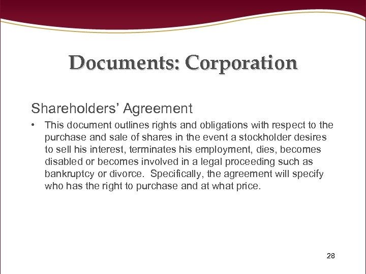 Documents: Corporation Shareholders' Agreement • This document outlines rights and obligations with respect to