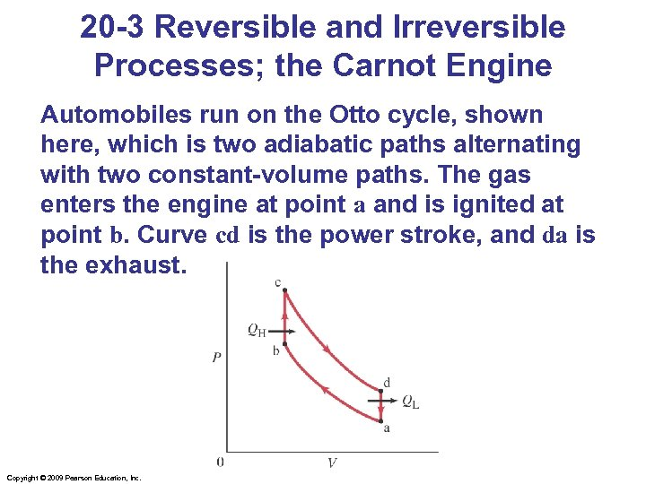 20 -3 Reversible and Irreversible Processes; the Carnot Engine Automobiles run on the Otto