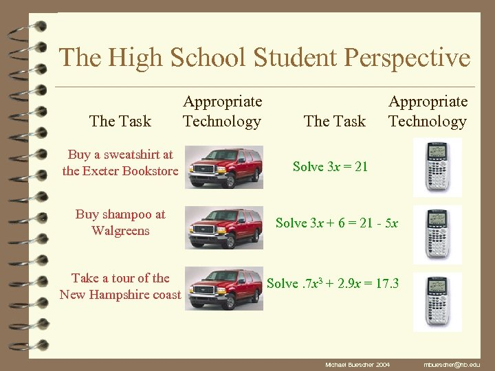 The High School Student Perspective The Task Buy a sweatshirt at the Exeter Bookstore