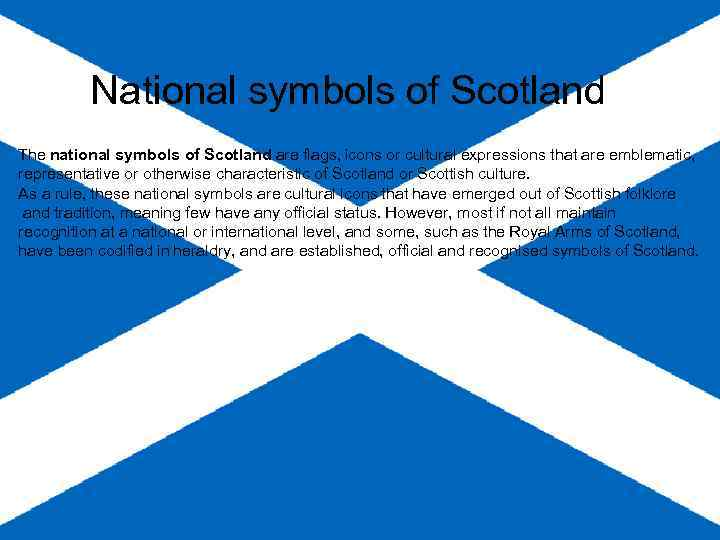 National Symbols Of Scotland The National Symbols Of
