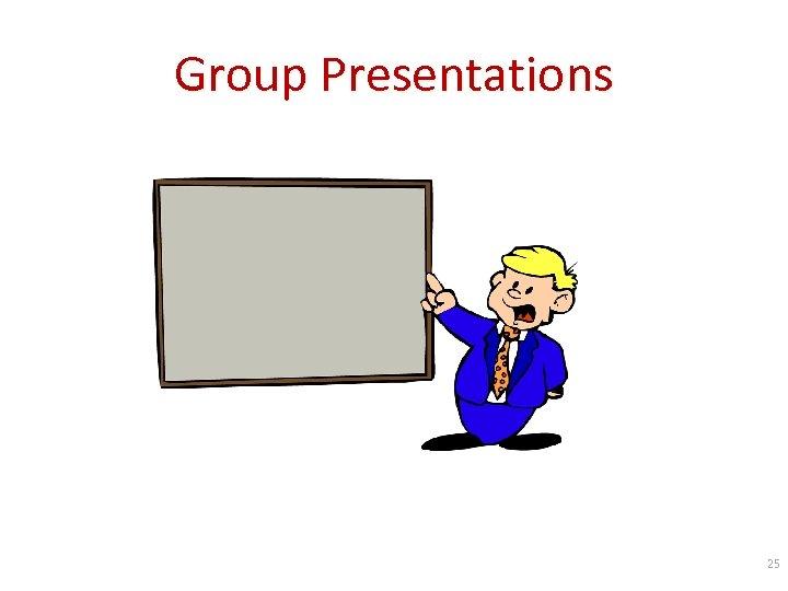 Group Presentations 25