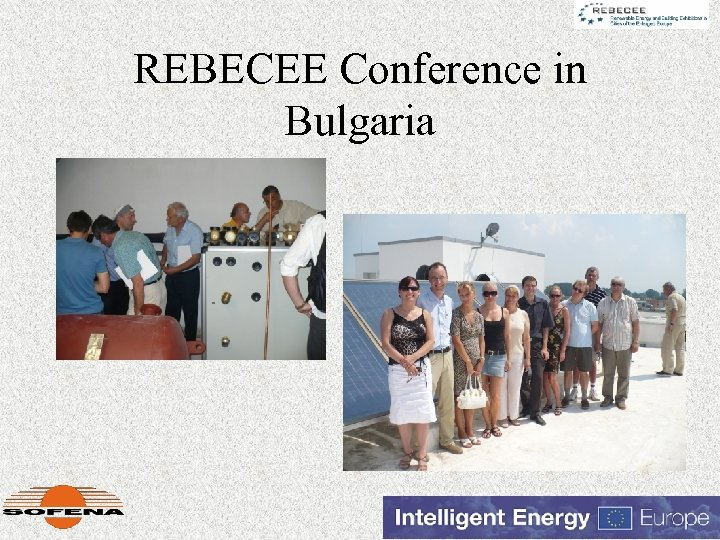 REBECEE Conference in Bulgaria
