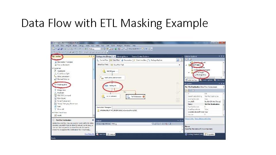 Data Flow with ETL Masking Example