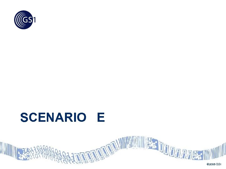 SCENARIO E © 2008 GS 1
