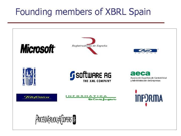 Founding members of XBRL Spain