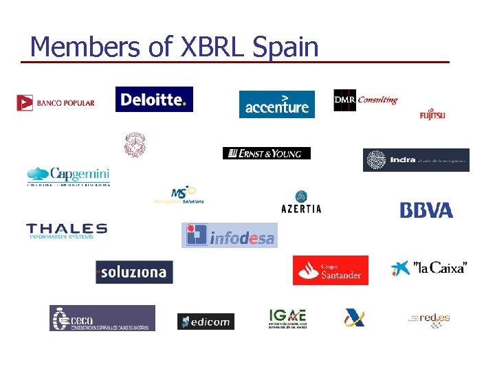 Members of XBRL Spain »