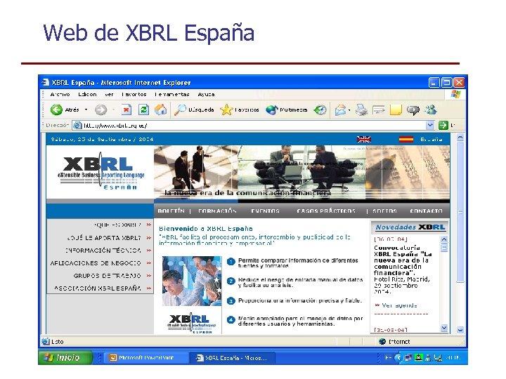 Web de XBRL España
