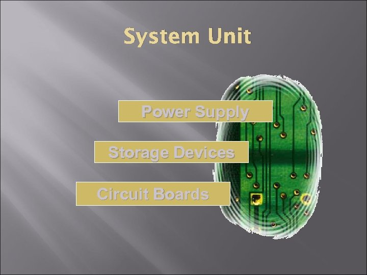 System Unit Power Supply Storage Devices Circuit Boards