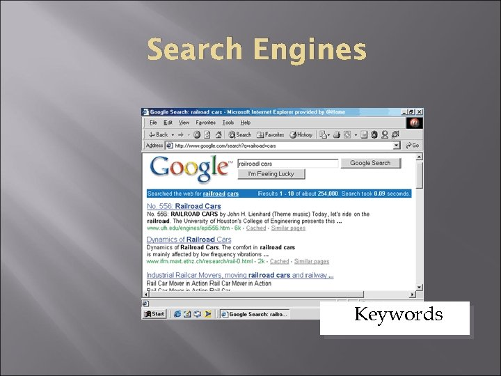 Search Engines Keywords