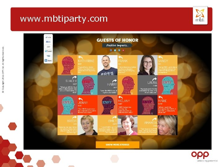 © Copyright 2013 OPP Ltd. All rights reserved. www. mbtiparty. com