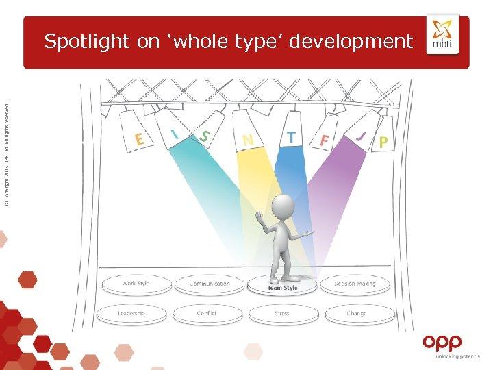 © Copyright 2013 OPP Ltd. All rights reserved. Spotlight on 'whole type' development