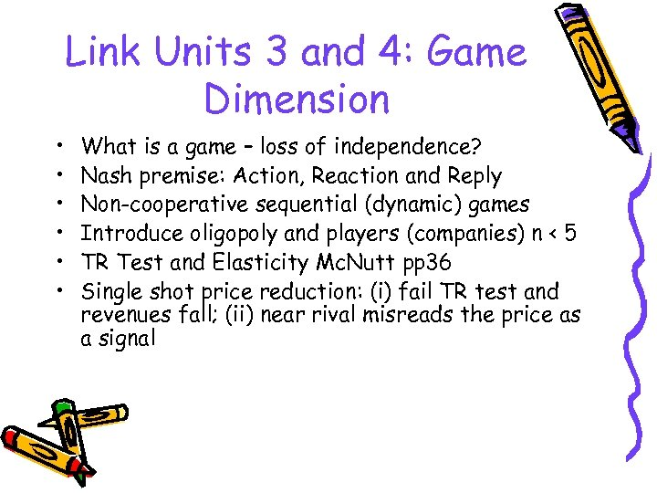 Link Units 3 and 4: Game Dimension • • • What is a game