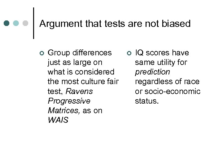 Outline Test bias definitions