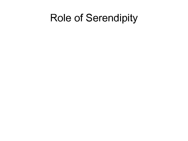 Role of Serendipity
