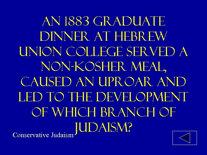 an 1883 graduate dinner at hebrew union college served a non-kosher meal, caused an