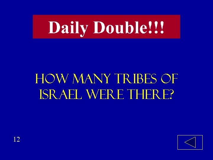 how many tribes of israel were there? 12