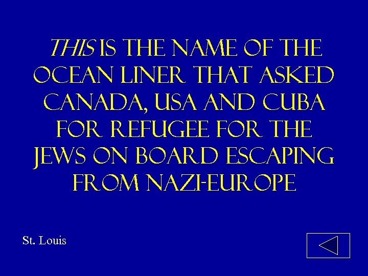 This is the name of the ocean liner that asked canada, usa and cuba