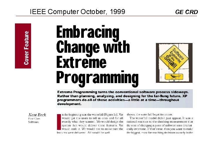 IEEE Computer October, 1999 GE CRD