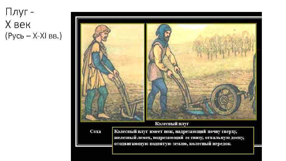 Плуг Х век (Русь – X-XI вв. )