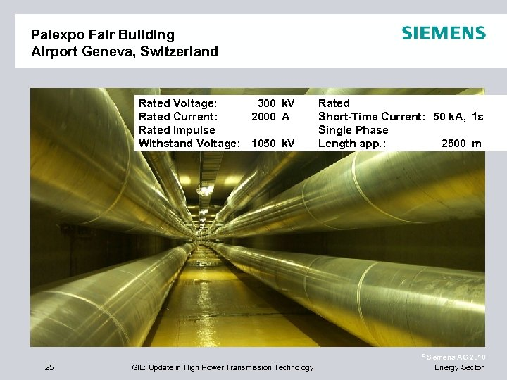 Palexpo Fair Building Airport Geneva, Switzerland Rated Voltage: 300 k. V Tower 176 Rated