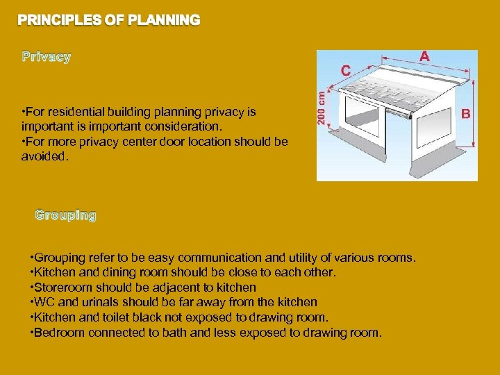 • For residential building planning privacy is important consideration. • For more privacy