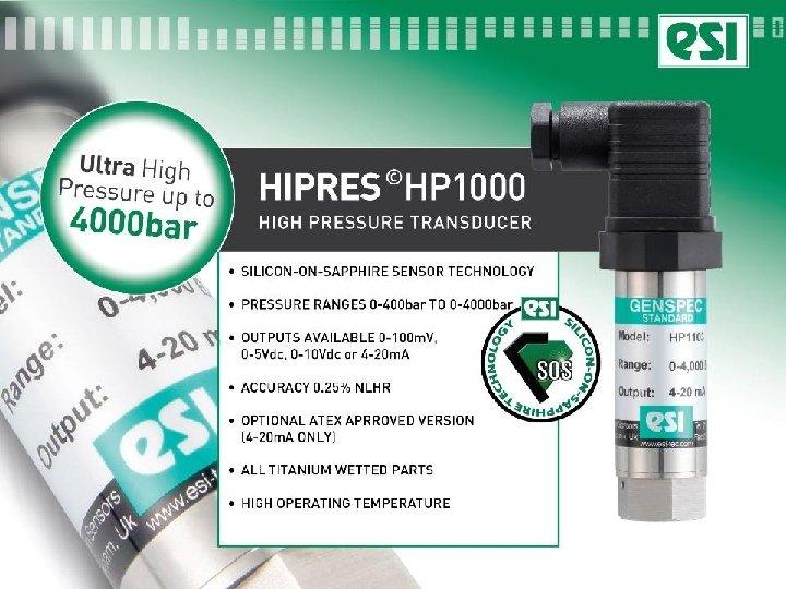 HP 1000 high pressure
