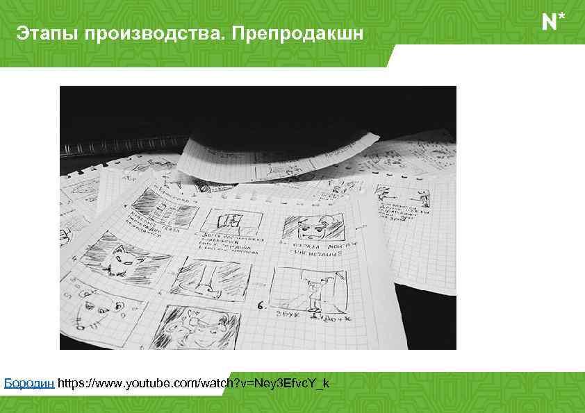 Этапы производства. Препродакшн Бородин https: //www. youtube. com/watch? v=Ney 3 Efvc. Y_k