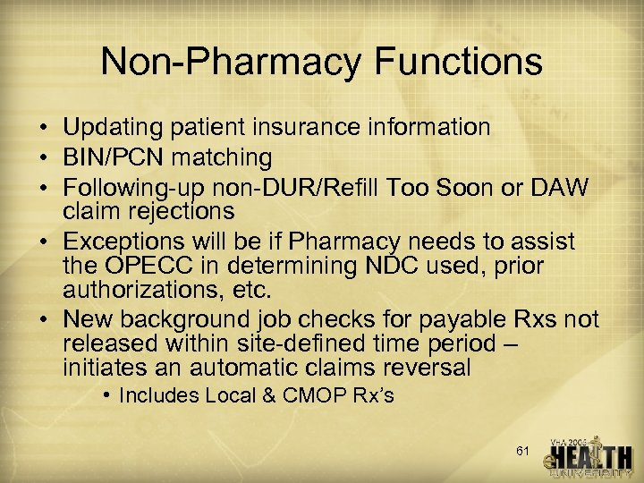 e-Pharmacy Claims Best Practices Ve HU Session 115
