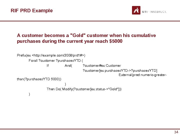 RIF PRD Example A customer becomes a