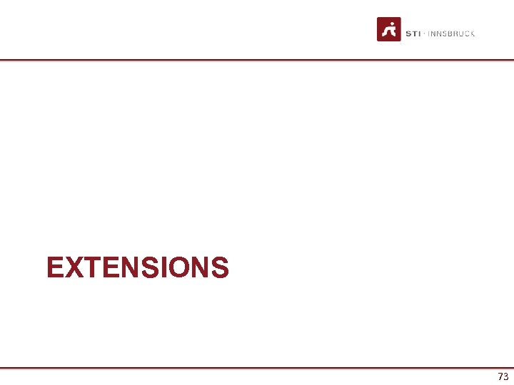 EXTENSIONS 73
