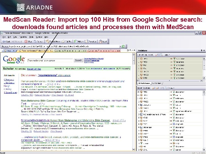 Med. Scan Reader: Import top 100 Hits from Google Scholar search: downloads found articles