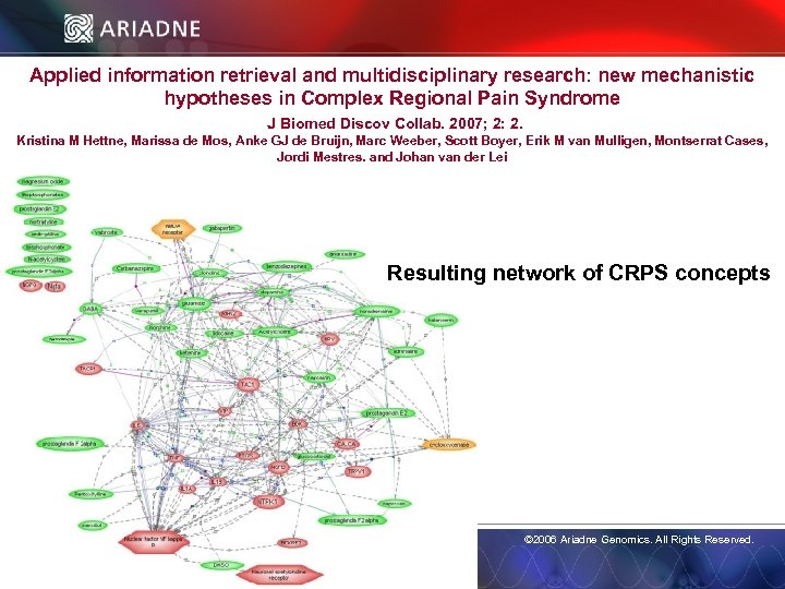 Applied information retrieval and multidisciplinary research: new mechanistic hypotheses in Complex Regional Pain Syndrome