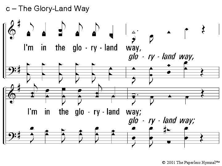 c – The Glory-Land Way I'm in the gloryland way, I'm in the gloryland
