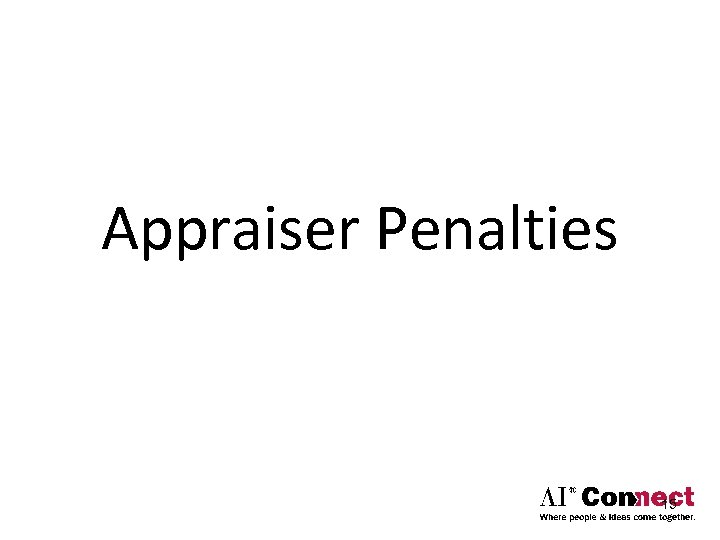 Appraiser Penalties 15