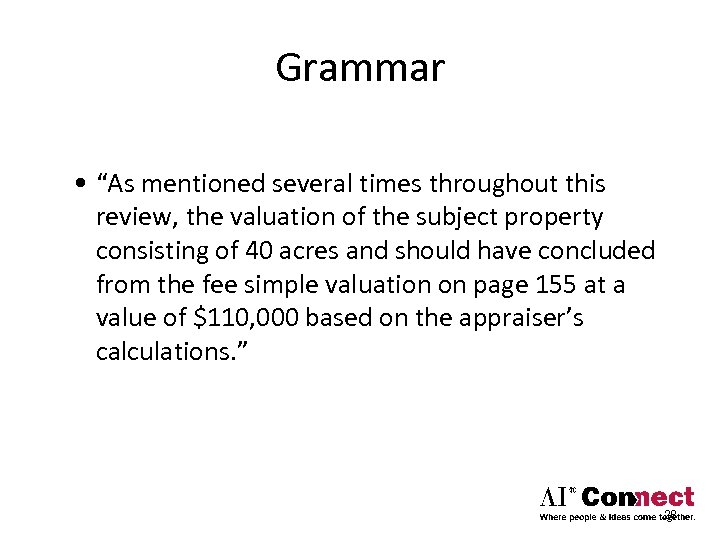 "Grammar • ""As mentioned several times throughout this review, the valuation of the subject"