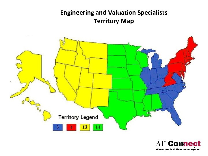 Engineering and Valuation Specialists Territory Map 9