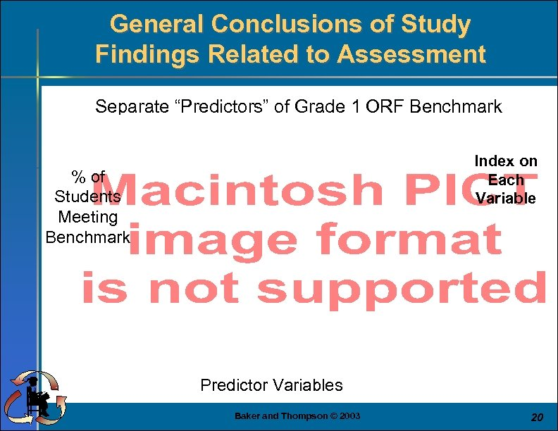 """General Conclusions of Study Findings Related to Assessment Separate """"Predictors"""" of Grade 1 ORF"""