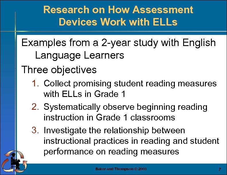 Research on How Assessment Devices Work with ELLs Examples from a 2 -year study