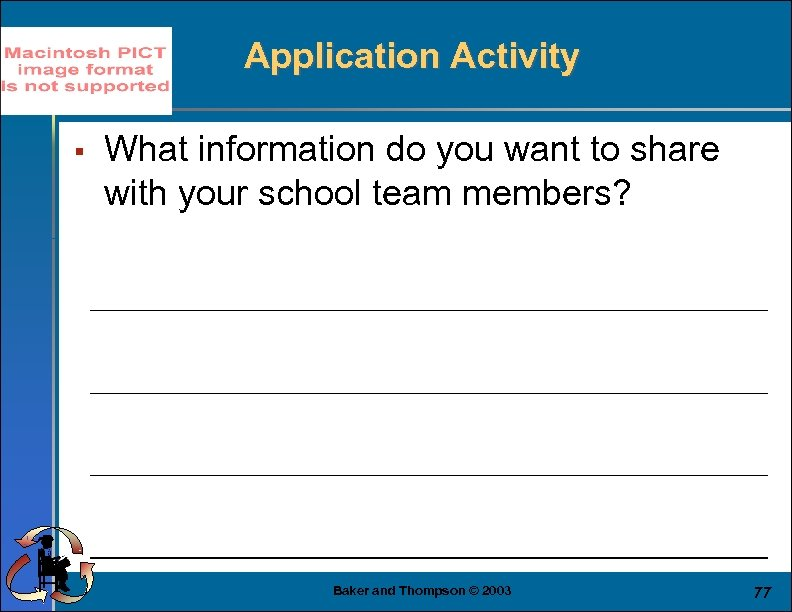 Application Activity § What information do you want to share with your school team