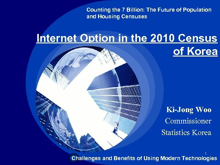 Company LOGO Counting the 7 Billion: The Future of Population and Housing Censuses Internet