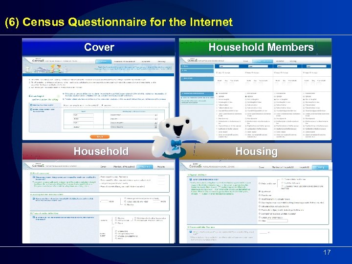 (6) Census Questionnaire for the Internet Cover Household Members Housing 17