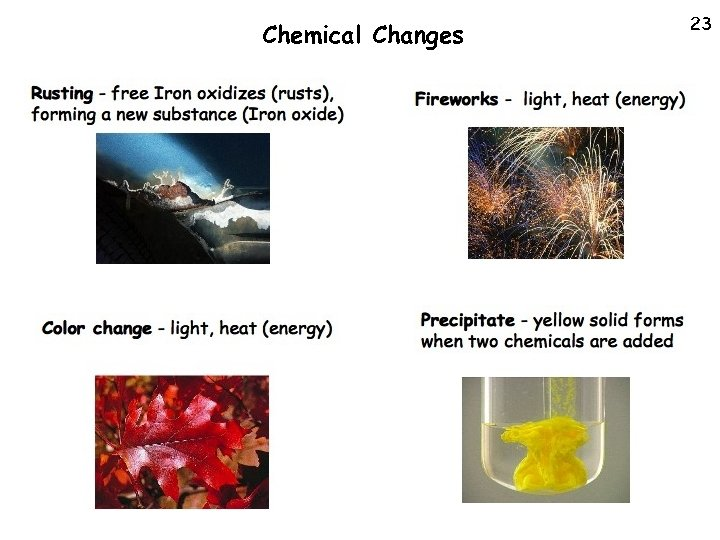 Chemical Changes 23