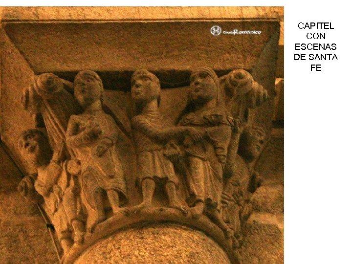 CAPITEL CON ESCENAS DE SANTA FE