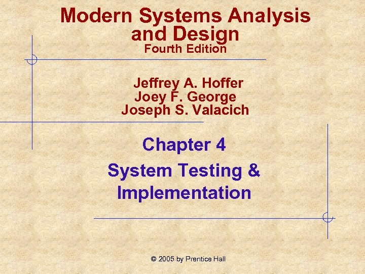 Modern Systems Analysis And Design Fourth Edition Jeffrey